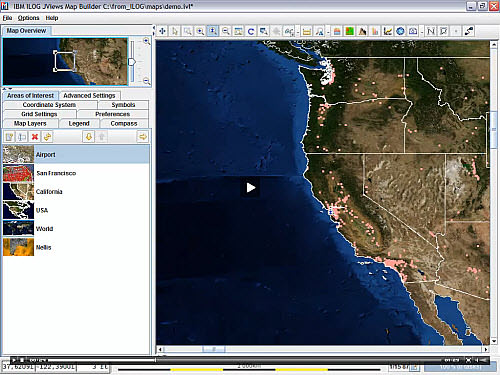 IBM ILOG JViews Maps picture or screenshot