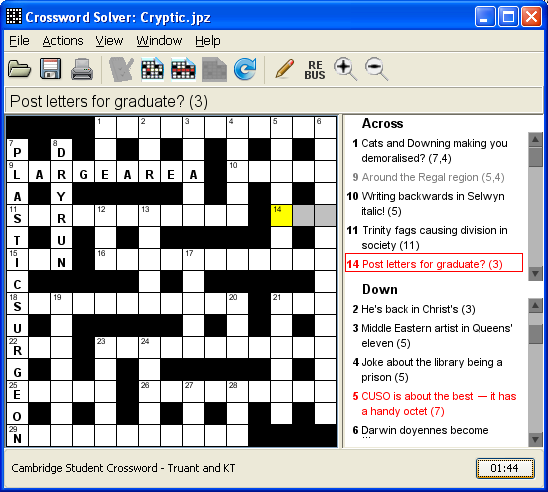 Crossword Solver file extensions