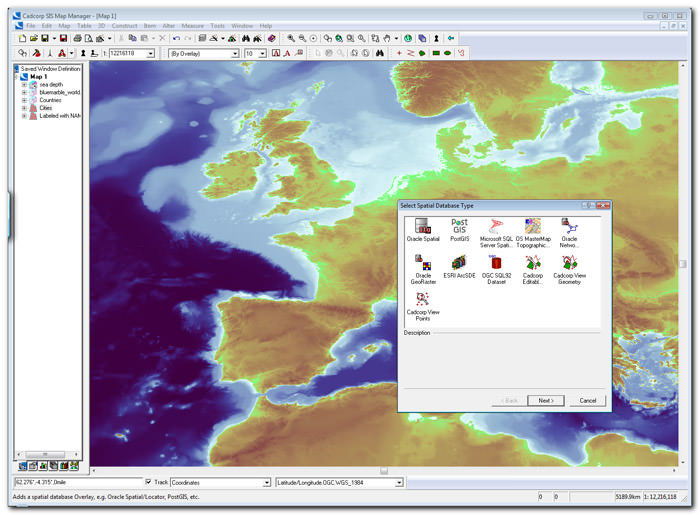 Cadcorp Map Manager picture or screenshot