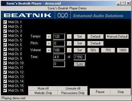 Sonic's Beatnik Player picture or screenshot