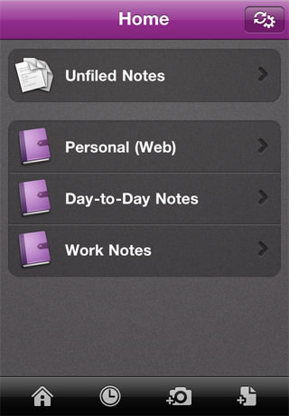 Microsoft One Note Mobile for iPhone picture