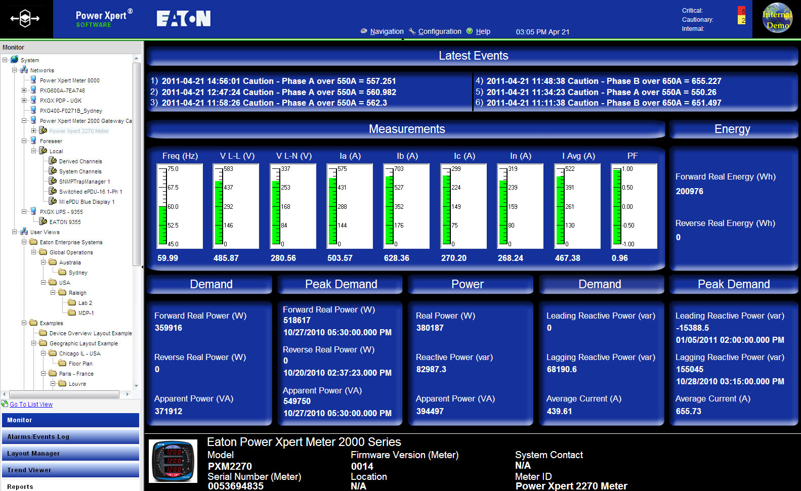 Power Xpert Software - Professional picture or screenshot