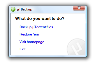 µTBackup picture or screenshot