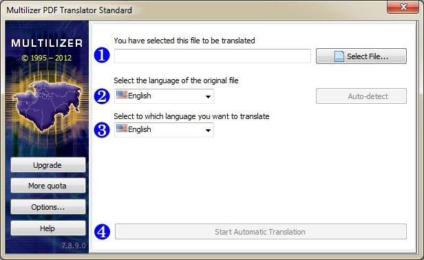 Multilizer PDF Translator picture or screenshot
