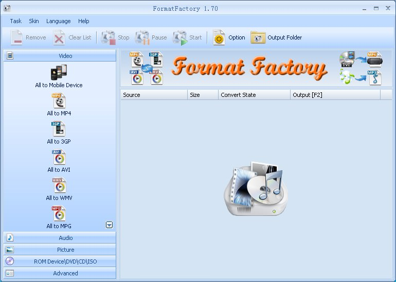 FormatFactory picture