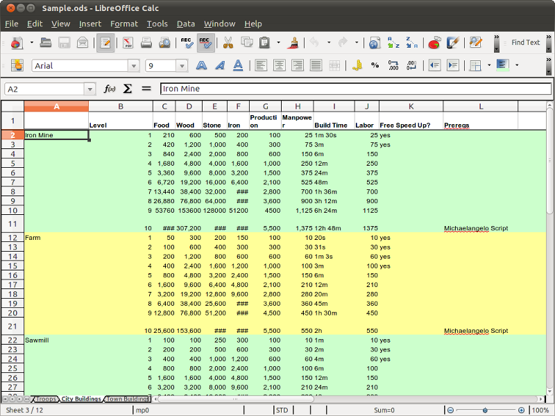 LibreOffice Calc picture