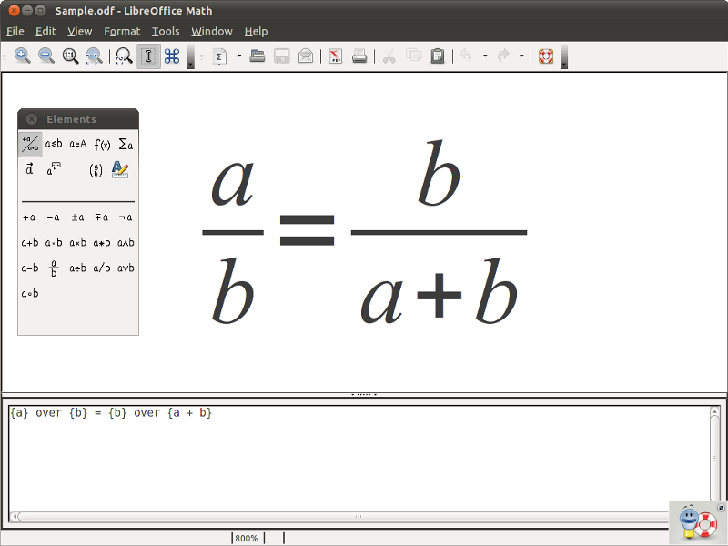 LibreOffice Math picture
