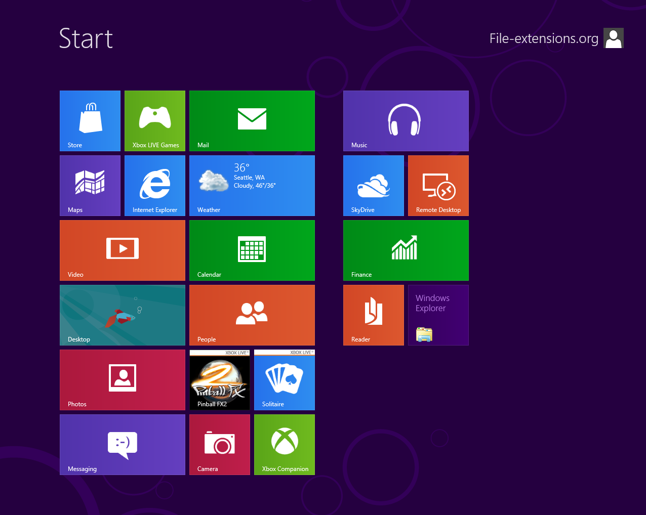 Microsoft windows 8 file extensions for Microsoft windows windows