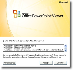 Microsoft PowerPoint Viewer picture