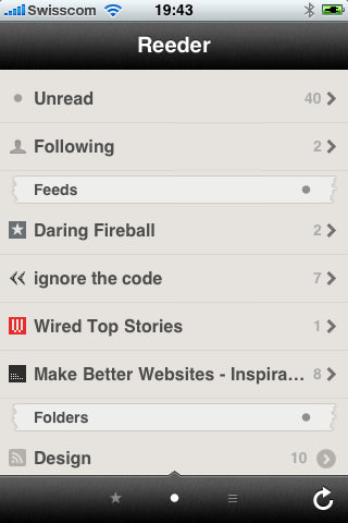 Reeder for iPhone picture