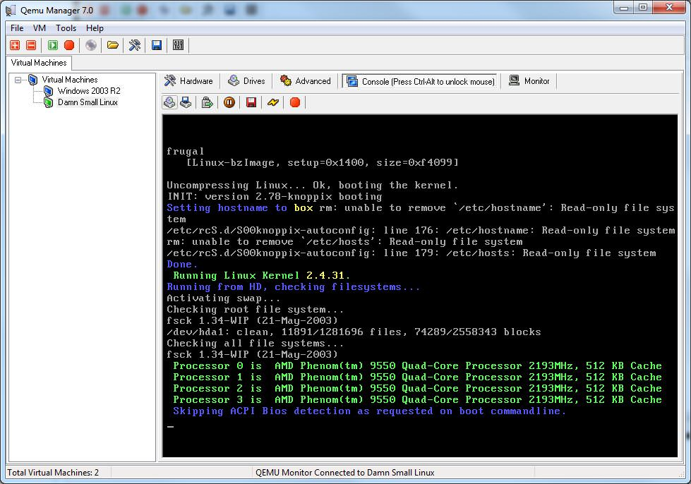 Qemu Manager picture or screenshot