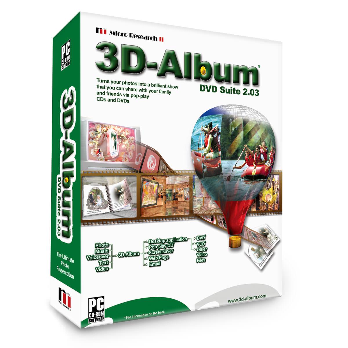 3D-Album file extensions