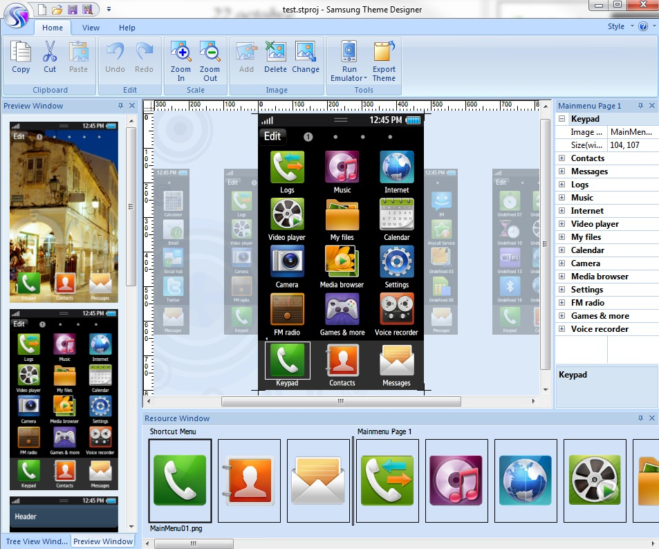 Samsung Theme Designer picture or screenshot