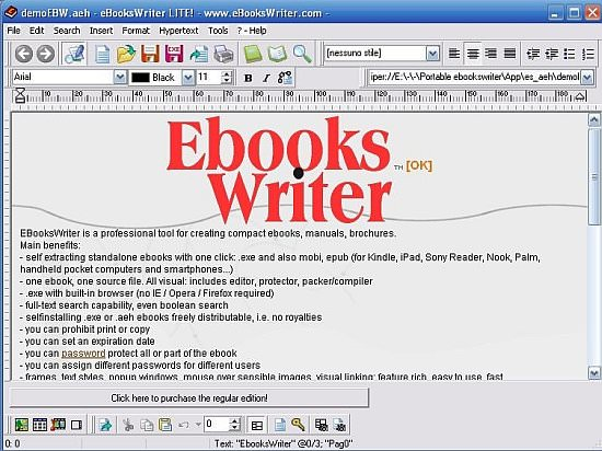 eBooks Writer picture or screenshot