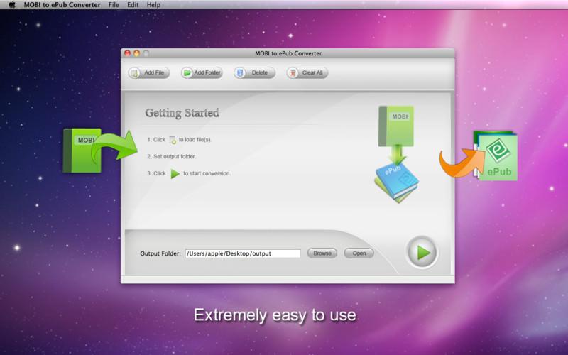 MOBI to ePub Converter file extensions