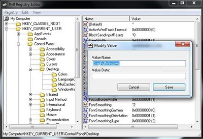 Ryll Registry Editor picture