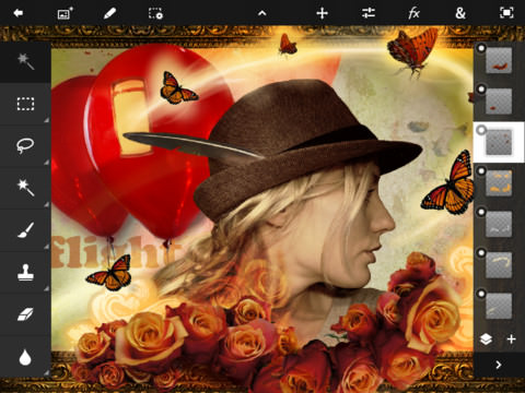 Adobe Photoshop Touch for iPad picture