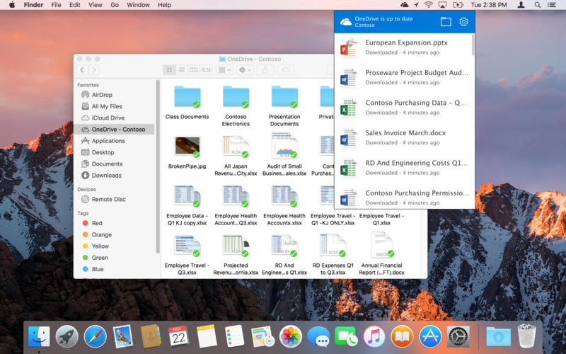 OneDrive for Mac picture