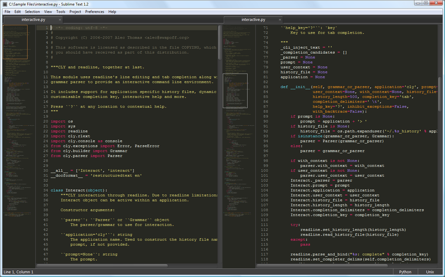 Sublime Text picture