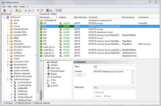 ASAP2 Editor picture or screenshot