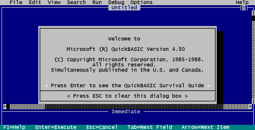 QuickBASIC picture or screenshot