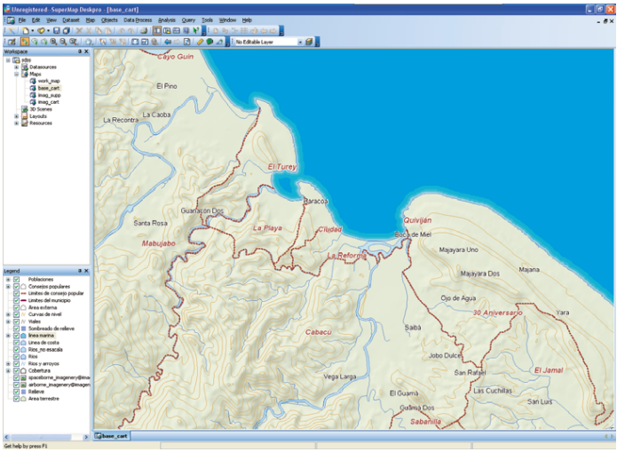 SuperMap Desktop GIS picture
