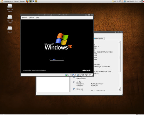 VirtualBox for Linux picture