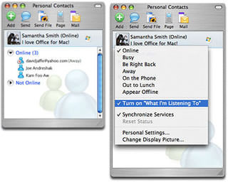 Windows Live Messenger for Mac picture