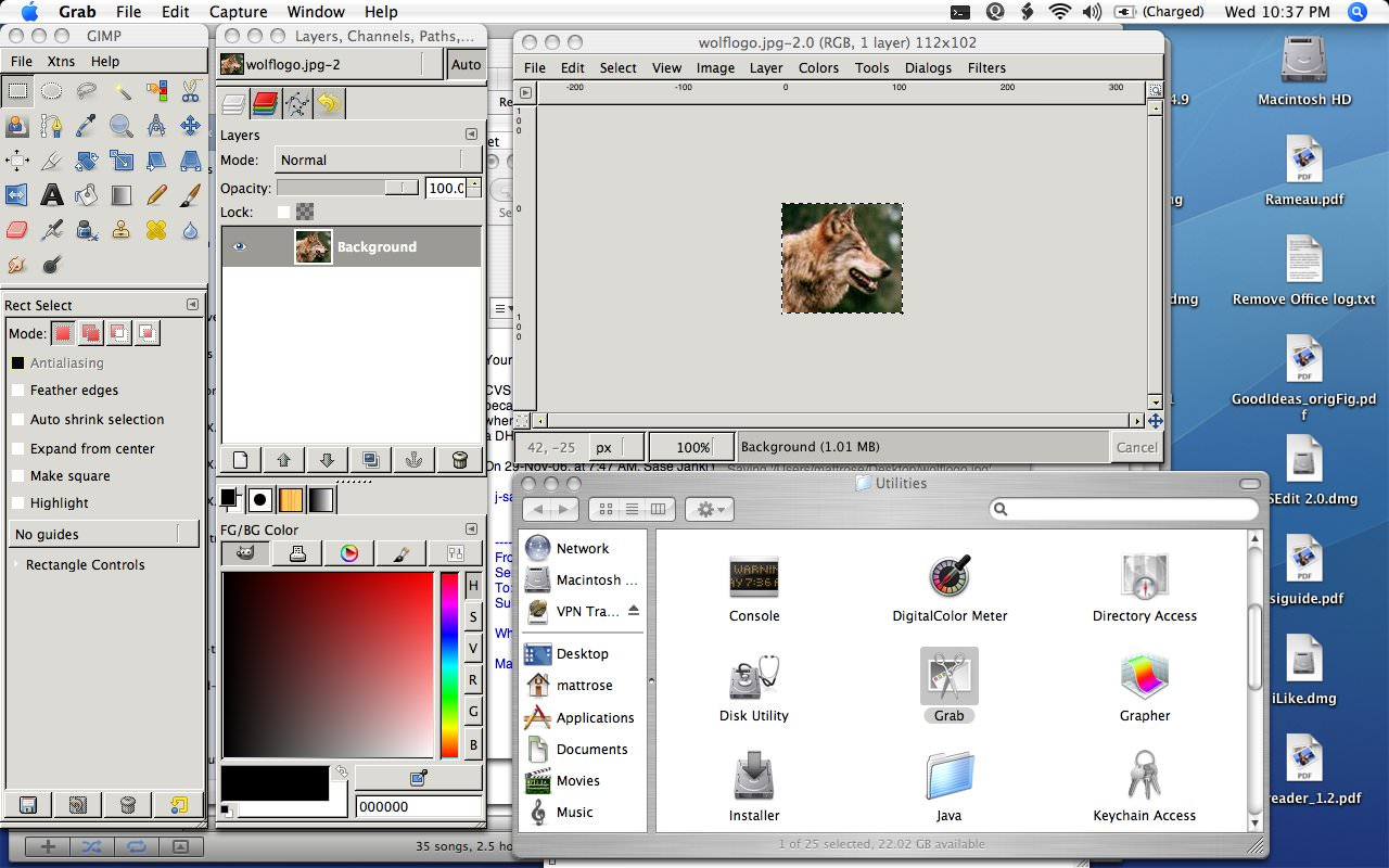 GIMP for Mac picture