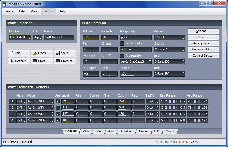 Motif Rack ES Voice Editor picture or screenshot