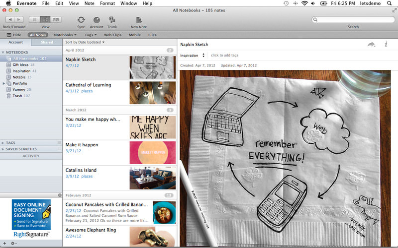 Evernote for Mac picture