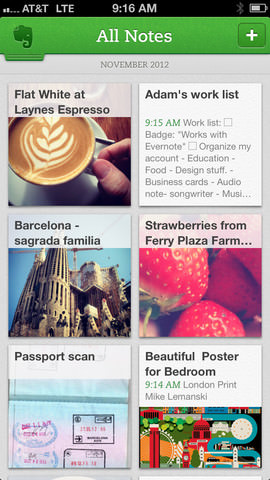 Evernote for iOS picture