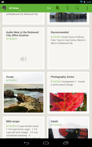 Evernote for Android picture