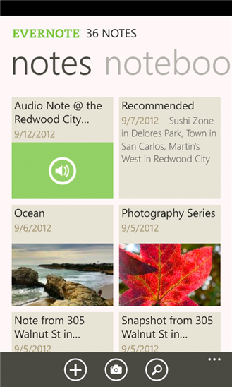 Evernote for Windows Phone picture
