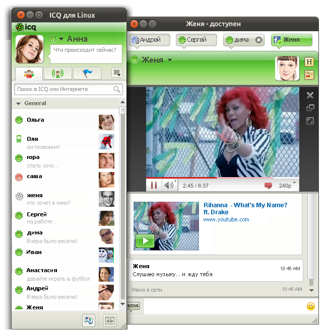 ICQ for Linux picture