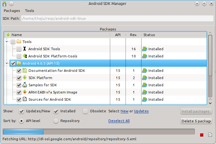Google Android SDK Tools for Linux picture