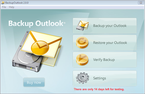 Backup Outlook picture