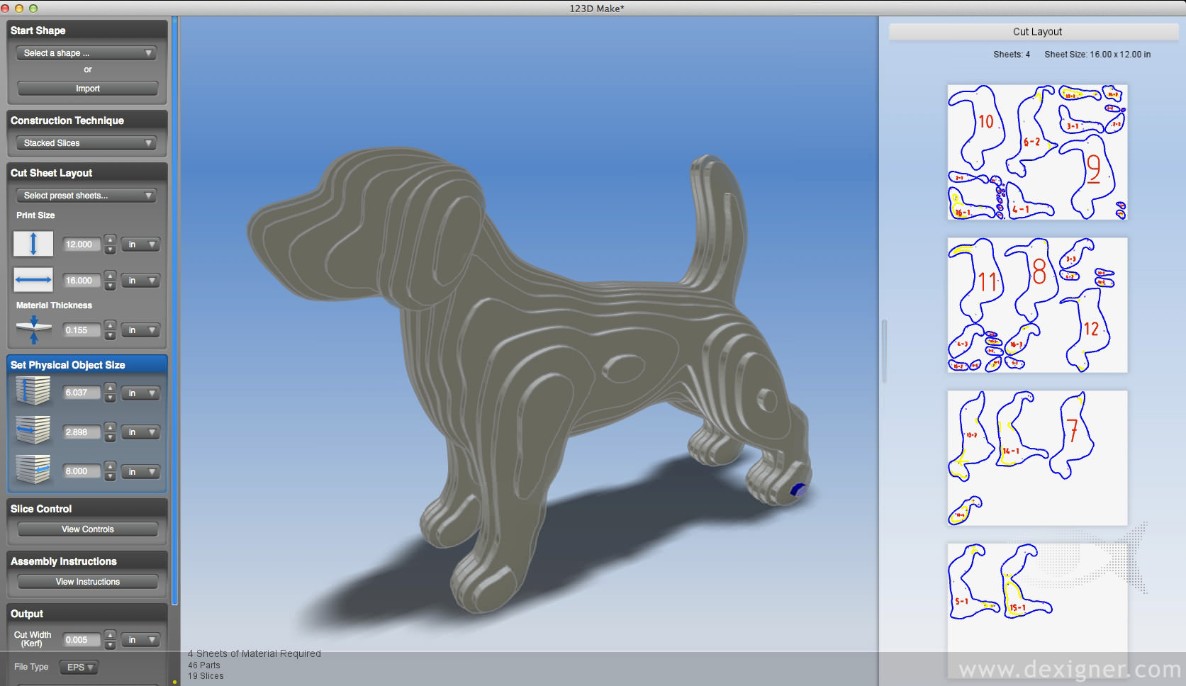 Autodesk 123D for Mac picture or screenshot