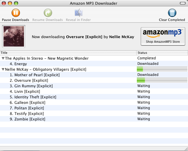 Amazon MP3 Downloader for Mac file extensions