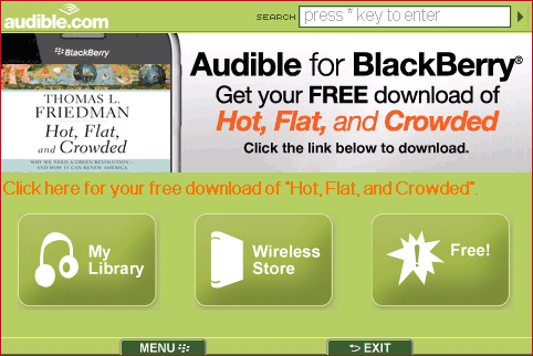 Audible for BlackBerry picture