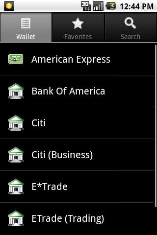 SafeWallet for Android picture or screenshot