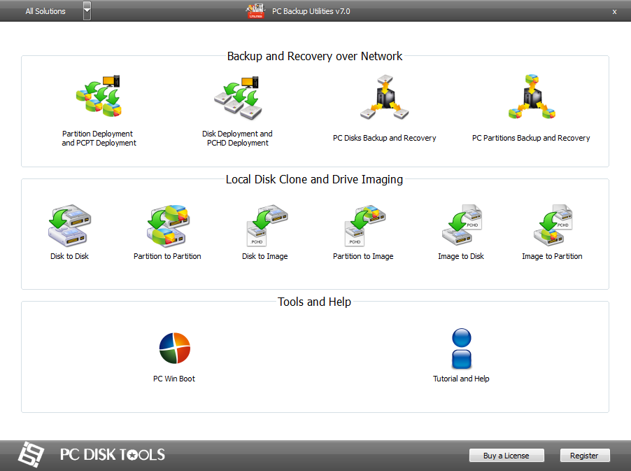 PC Backup Utilities picture or screenshot