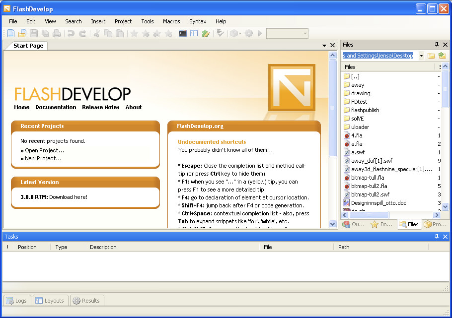 FlashDevelop picture or screenshot