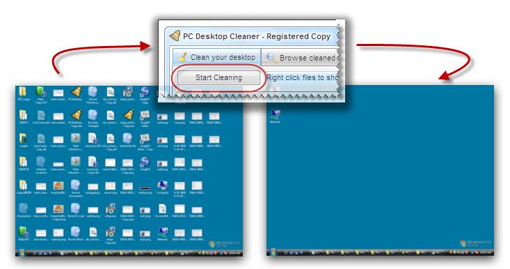 PC Desktop Cleaner picture or screenshot