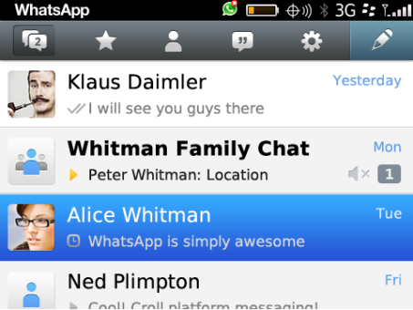 WhatsApp for Blackberry picture