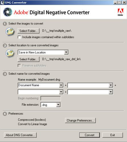 Adobe DNG Converter picture