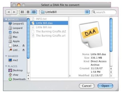 DAA Converter for Mac OS X picture