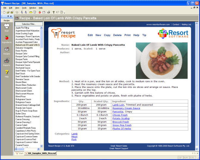 Resort Software picture or screenshot