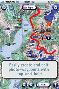 Fugawi iMap Topo Map App for iPhone and iPad picture