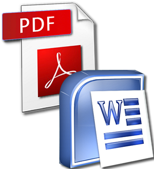 PDF to DOC icons